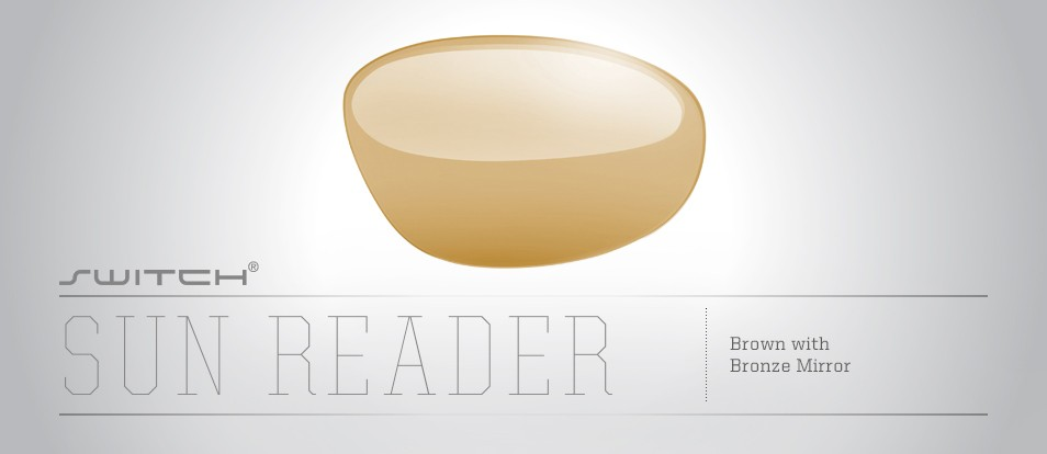 Sun Reader Brown with Bronze Mirror