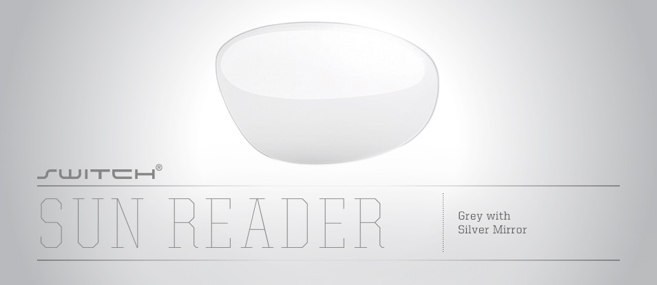 Sun Reader Grey with Silver Mirror