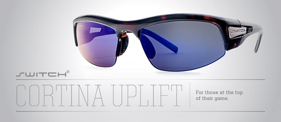 Cortina Uplift - Liberty Sport sunglasses with Switch Interchange magnetic removable lenses that are available in a prescription.