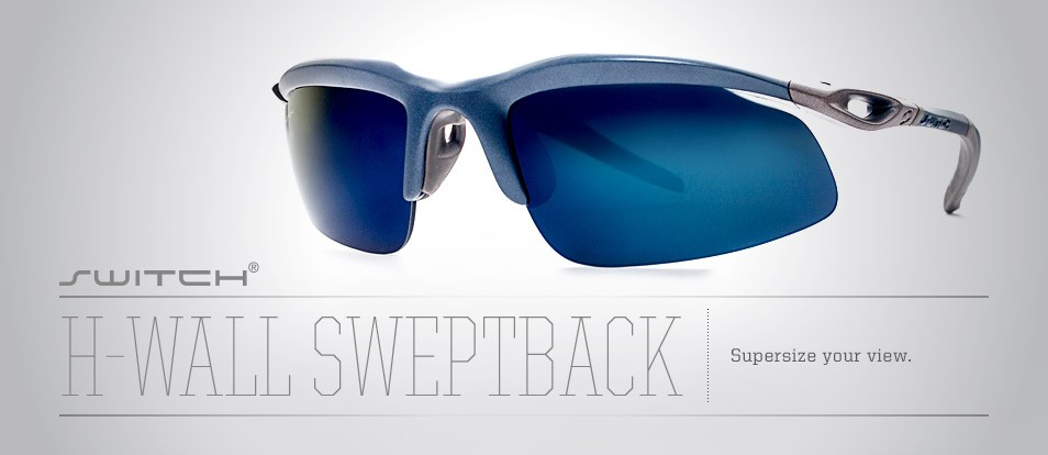 H- Wall Sweptback - Liberty Sport sunglasses designed to prevent light leakage and adapt to various conditions with removable magnetic lenses.