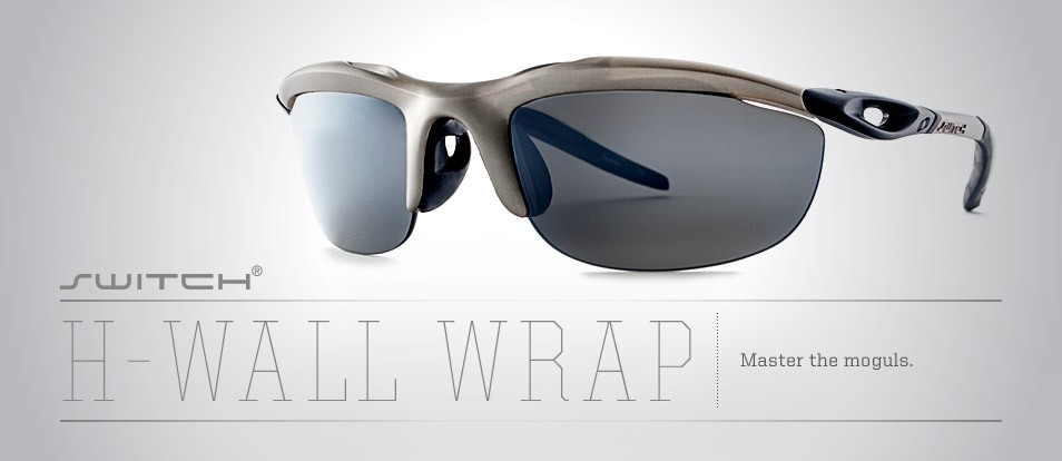 H- Wall Wrap - Liberty Sport sunglasses designed to prevent light leakage and adapt to various conditions with removable magnetic lenses.