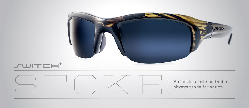 Stoke - Sport sunglasses with the ability to switch between different lenses through a unique magnetic interchange system.