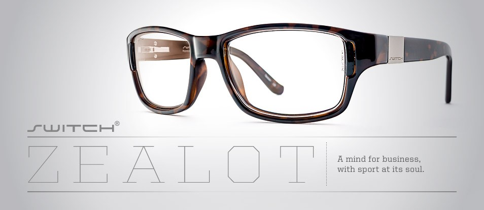 Zealot - Liberty Sport - Context collection professional glasses with interchangeable magnetic lenses for popping in sun lenses when needed.